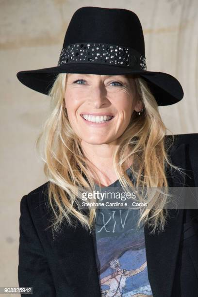 Estelle Lefebure attends the Christian Dior Haute Couture Spring Summer 2018 show as part of Paris Fashion Week January 22 2018 in Paris France