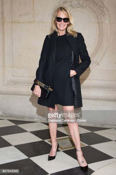 Estelle Lefebure attends the Christian Dior show as part of the Paris Fashion Week Womenswear Fall/Winter 2017/2018 on March 3 2017 in Paris France