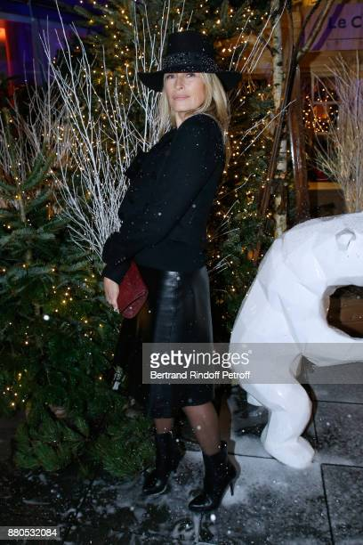 Estelle Lefebure attends the Inauguration of the 'Chalet Les Neiges 1850' on the terrace of the Hotel 'Barriere Le Fouquet's Paris' on November 27...