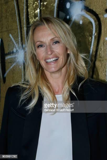 Estelle Lefebure attends the Vendorama Exhibition as Boucheron Celebrates its 160th Anniversary at Monnaie de Paris on January 11 2018 in Paris France