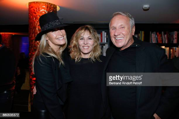Estelle Lefebure Mathilde Seigner and Yves Renier attend the Inauguration of the 'Chalet Les Neiges 1850' on the terrace of the Hotel 'Barriere Le...
