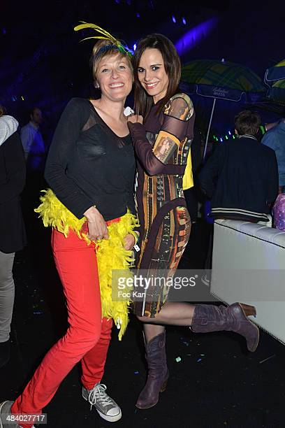 Estelle Martin and Melissa Mars attend the 'Balsao WareHouse' Party At Docks De Paris Aubervilliers on April 10 2014 in Paris France