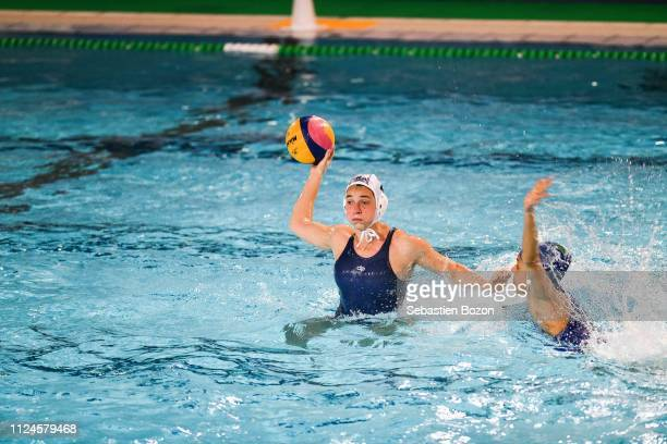 Estelle Millot of France during the Women's International Match Water Polo match between France and Italy on February 12 2019 in Mulhouse France