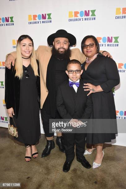 Estelle Nigaglioni Luss Nigaglioni Angel Rodriguez and Sheila Castellano attend the Bronx Children's Museum Gala at Tribeca Rooftop on May 2 2017 in...