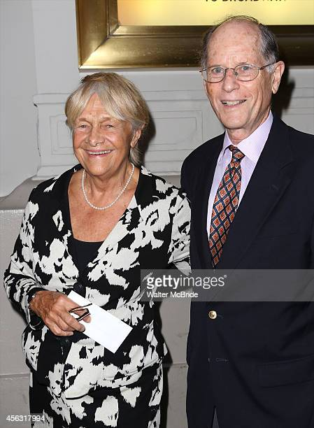 Estelle Parsons and husband Peter Zimroth attend the Broadway Opening Night performance of 'You Can't Take It With You' at the Longarce Theatre on...