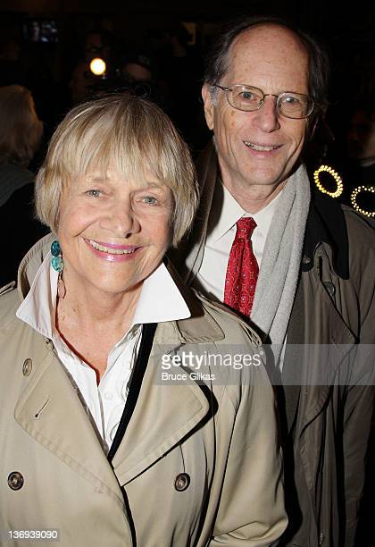 Estelle Parsons and husband Peter Zimroth attend The Gershwins' Porgy and Bess Broadway opening night at the Richard Rodgers Theatre on January 12...