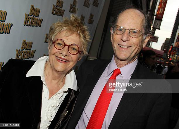 Estelle Parsons and husband Peter Zimroth pose at The Opening Night of Born Yesterday on Broadway at The Cort Theatre on April 24 2011 in New York...