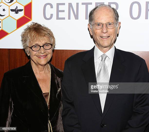 Estelle Parsons and Peter Zimroth attend the 12th Annual James Parks Morton Interfaith awards dinner at Hilton Hotel Midtown on June 5 2014 in New...