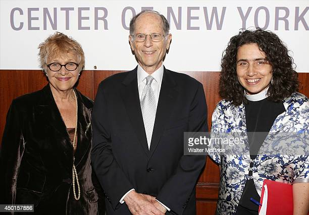 Estelle Parsons Peter Zimroth and Rev Chloe Breyer attend the 12th Annual James Parks Morton Interfaith awards dinner at Hilton Hotel Midtown on June...