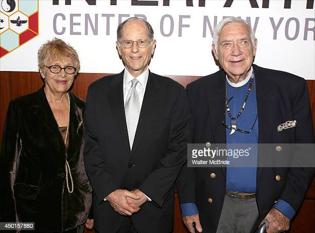 Estelle Parsons Peter Zimroth and Rev James Parks Morton attend the 12th Annual James Parks Morton Interfaith awards dinner at Hilton Hotel Midtown...