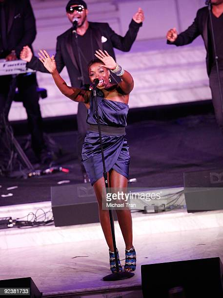 """Estelle performs onstage at the 3rd Annual """"Rock The Kasbah"""" fundraising gala held at Vibiana on October 26, 2009 in Los Angeles, California."""