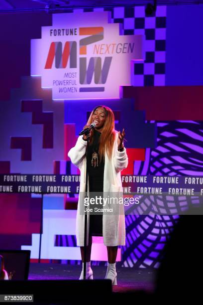 Estelle performs onstage during the Fortune Most Powerful Women Next Gen conference at Monarch Beach Resort on November 13 2017 in Dana Point...