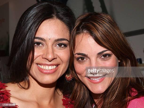 Estephania LeBaron and Carolina Bacardi during Catalina Magazine and ColgatePalmolive Present Vanilla Spa Getaway at Amadeus Aveda Day Spa in Los...