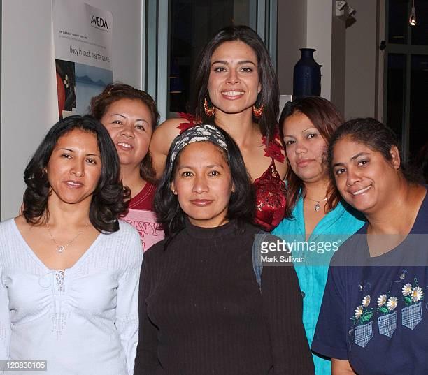 Estephania LeBaron and guests during Catalina Magazine and ColgatePalmolive Present Vanilla Spa Getaway at Amadeus Aveda Day Spa in Los Angeles...