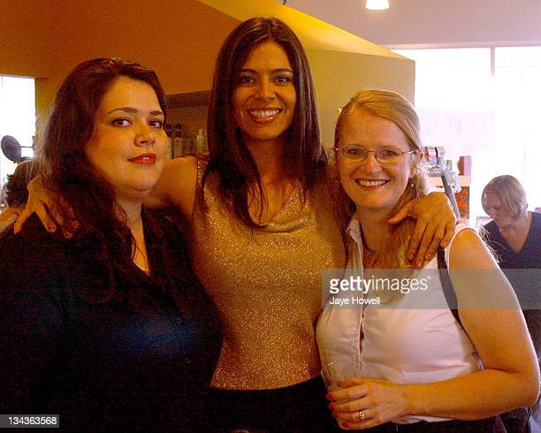 Estephania Lebaron from the movie The Alamo Lebaron and her sisters at the Catalina Magazine Spa Day at the Hugo Spa in San Antonio on October 20 2004