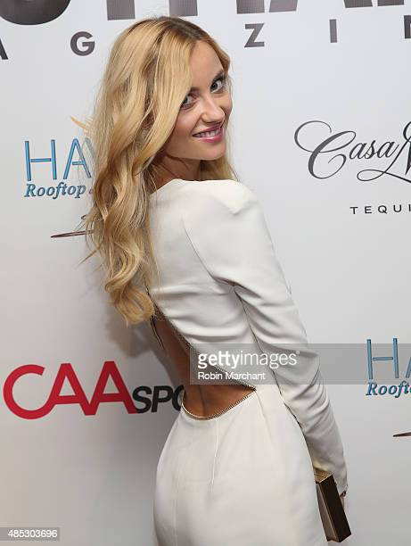Ester Berdych attends the Gotham Magazine CAA Sports Tennis Kick Off With Tomas on August 26 2015 in New York City