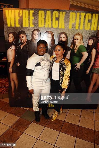 Ester Dean and Angela Yee attend the 'Pitch Perfect 2' special screening at Regal Theater on April 29 in New York City