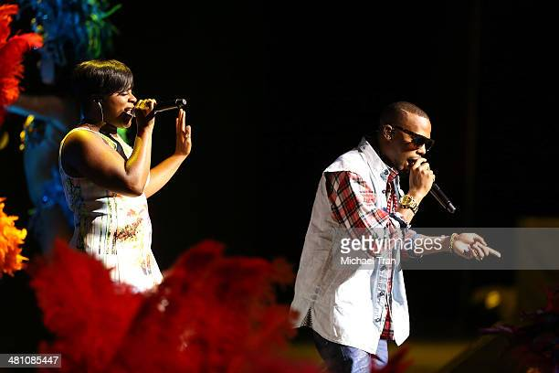 Ester Dean and BOB perform during the 20th Century Fox's Special Presentation at Cinemacon 2014 Day 4 held at The Colosseum at Caesars Palace on...