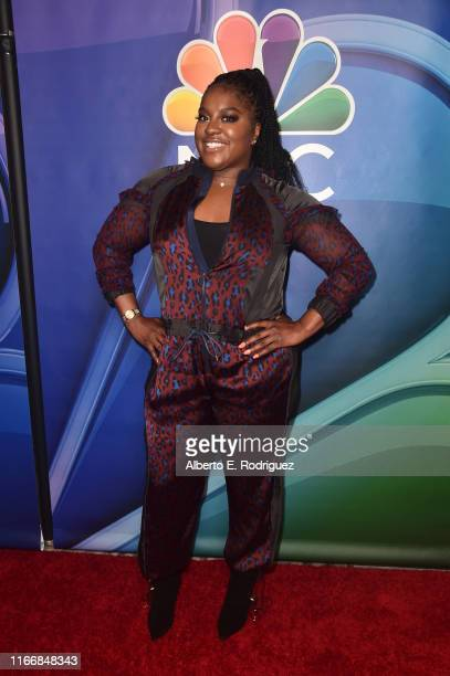 Ester Dean attends the 2019 TCA NBC Press Tour Carpet at The Beverly Hilton Hotel on August 08 2019 in Beverly Hills California