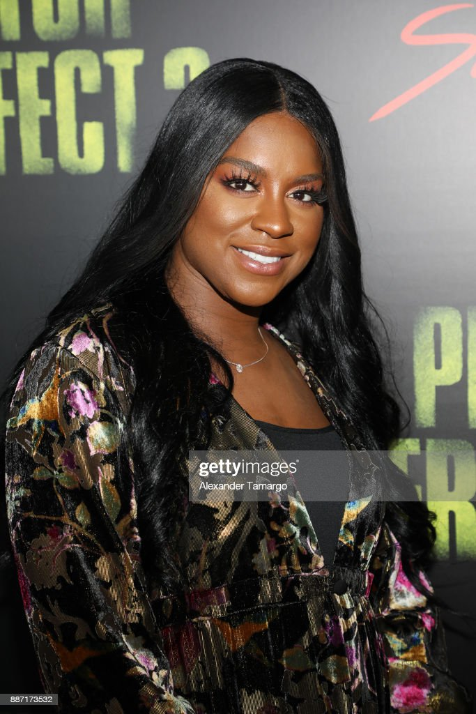 Ester Dean is seen at SLAM! Academy of Miami during the Pitch Perfect 3 special event on December 6, 2017 in Miami, Florida.