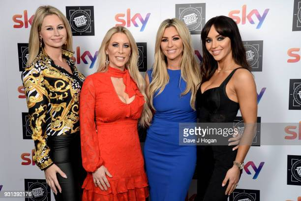 Ester Dee Rachel Lugo Dawn Ward and Nermina PietersMekic of The Real Housewives of Cheshire attend the TRIC Awards 2018 held at The Grosvenor House...
