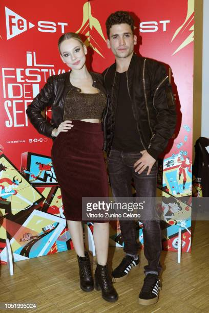 Ester Exposito and Jaime Lorente attend Fest at Santeria Social Club on October 12 2018 in Milan Italy