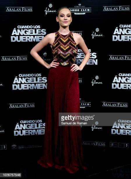 Ester Exposito attends 'Cuando Los Angeles Duermen' Madrid Premiere on September 4 2018 in Madrid Spain