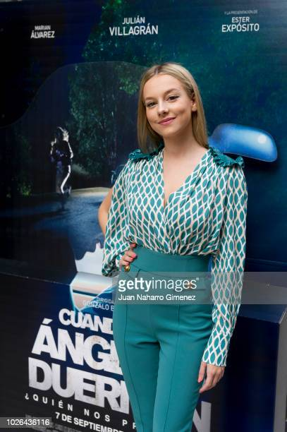 Ester Exposito attends 'Cuando Los Angeles Duermen' photocall at Ocho Y Medio bookstore on September 3 2018 in Madrid Spain