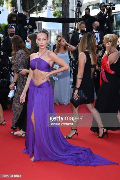 """Ester Exposito attends the """"Annette"""" screening and opening ceremony during the 74th annual Cannes Film Festival on July 06, 2021 in Cannes, France."""