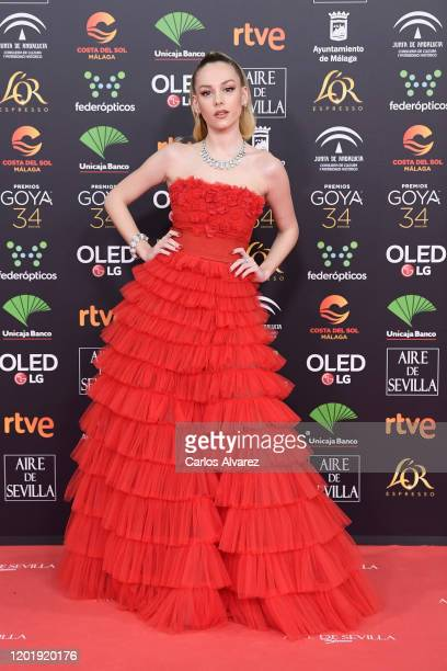 Ester Exposito attends the Goya Cinema Awards 2020 during the 34th edition of the Goya Cinema Awards at Jose Maria Martin Carpena Sports Palace on...