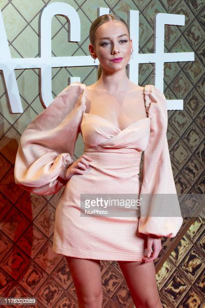 Ester Exposito attends the photocall for premiere of the HACHE series in cinemas Pax of Madrid on 16 October 2019 spain