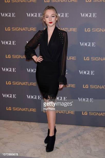Ester Exposito attends the 'Vogue and LG Signature Dinner' at Carlos Maria de Castro Palace in Madrid Spain on Dec 13 2018