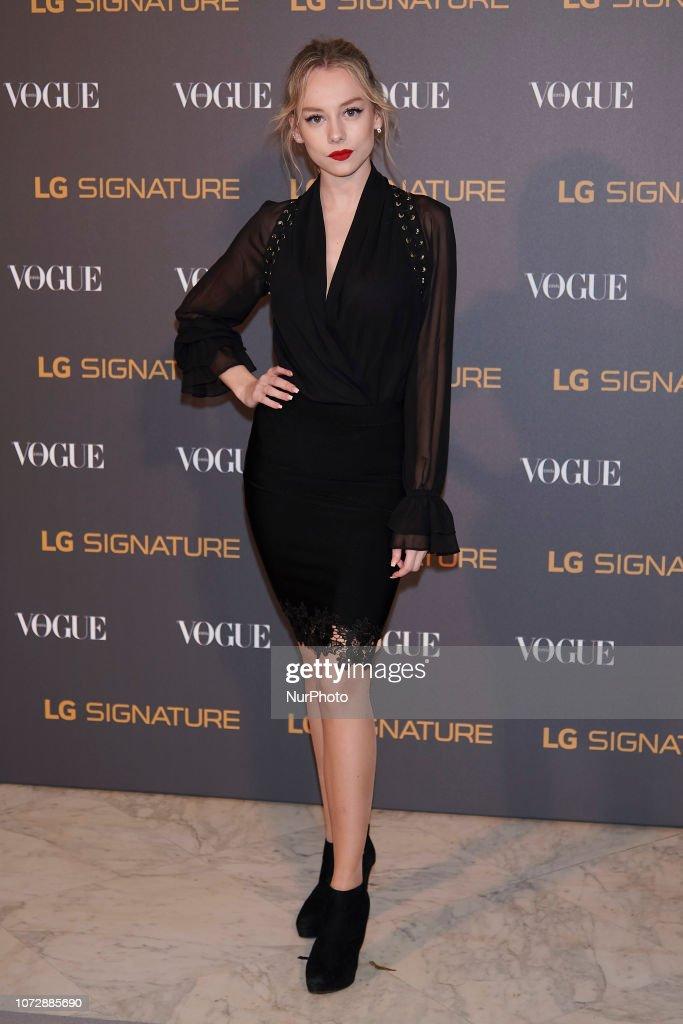'Vogue & LG Signature' Photocall In Madrid : Fotografía de noticias