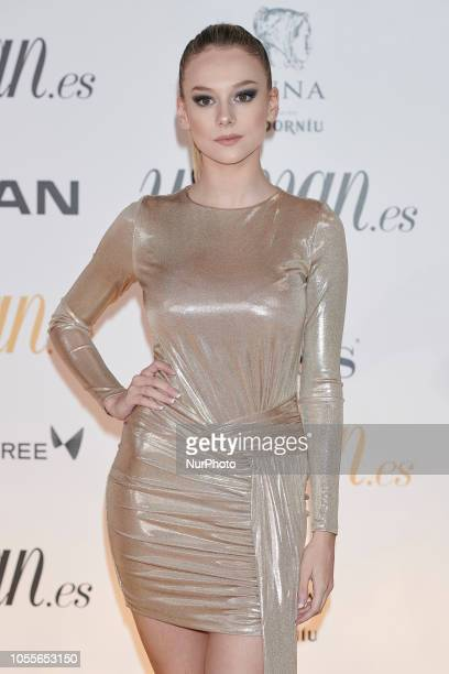 Ester Exposito attends the Woman Magazine Awards photocall at Madrid's Casino on October 30 2018