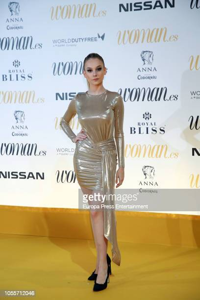 Ester Exposito attends the Woman Magazine Awards photocall at Madrid's Casino on October 30 2018 in Madrid Spain