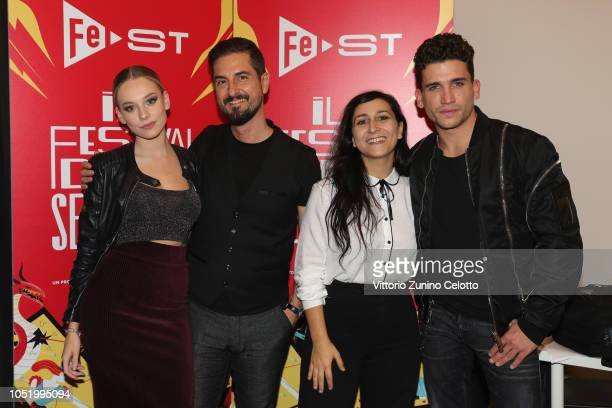 Ester Exposito Giorgio Viaro Marina Pierri Jaime Lorente attend Fest at Santeria Social Club on October 12 2018 in Milan Italy