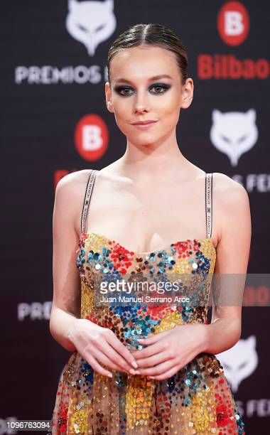 Ester Exposito on the red carpet during the Feroz Awards 2019 on January 19 2019 in Bilbao Spain