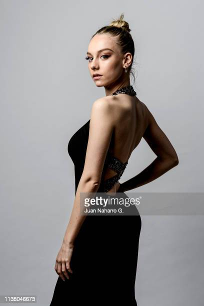 Ester Exposito poses for a portrait session at Teatro Cervantes during 22nd Spanish Film Festival of Malaga on March 23 2019 in Malaga Spain