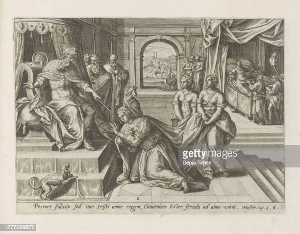 Ester for Ahasuerus History of Ester Historia Asuerij Thesaurus sacrarum historiaru [m] veteris testame [n] ti, elega [n] tissimis imaginibus...