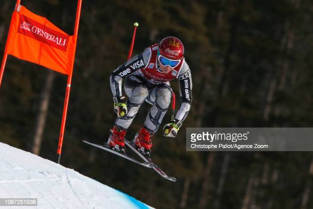 Ester Ledecka of Czech Republic in action during the Audi FIS Alpine Ski World Cup Women's Downhill on December 1 2018 in Lake Louise Canada