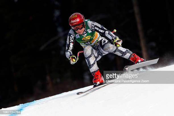 Ester Ledecka of Czech Republic in action during the Audi FIS Alpine Ski World Cup Women's Super G on December 2 2018 in Lake Louise Canada