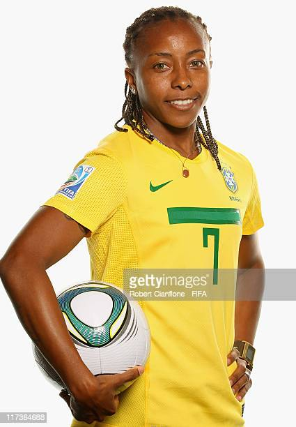 Ester of Brazil during the FIFA portrait session on June 26 2011 in Dusseldorf Germany