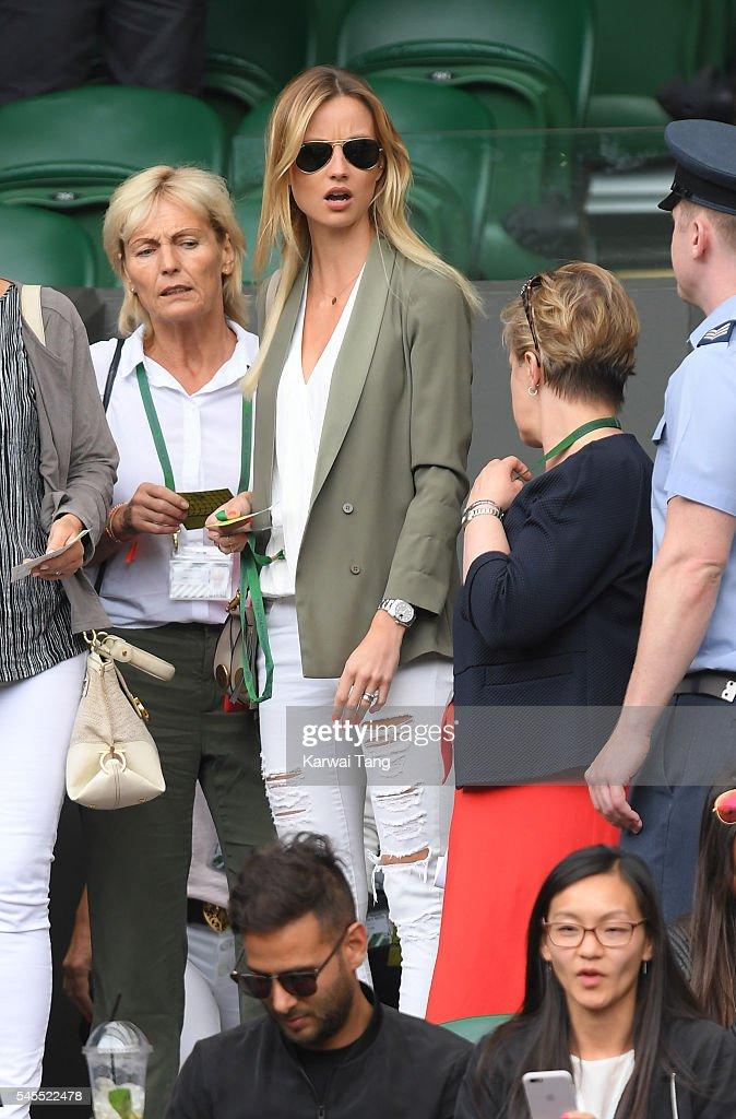 Celebrities Attend Wimbledon : News Photo