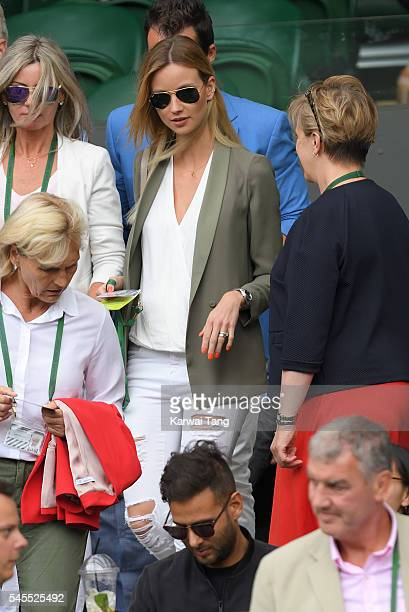 Ester Satorova attends day eleven of the Wimbledon Tennis Championships at Wimbledon on July 08 2016 in London England