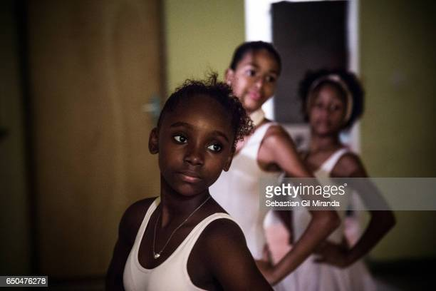 Ester Tuany's sister 12 years old during a class Ballet students in the project 'Na Ponta dos Pés' organized by a former professional ballerina Tuany...
