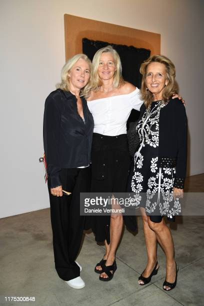 Ester Velo Anji Aron and Cecilia Colussi attend the Ha ChongHyun Exhibition Opening on September 17 2019 in Milan Italy