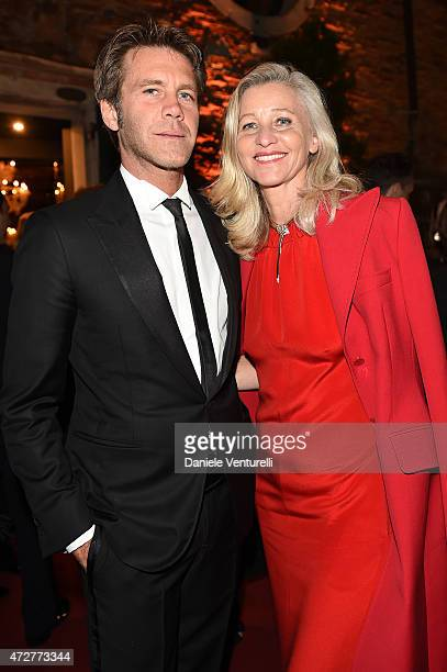 Ester Velo Van Hulst and Emanuele Filiberto di Savoia attend the Venetian Heritage And Bulgari Gala Dinner at Cipriani Hotel on May 9 2015 in Venice...