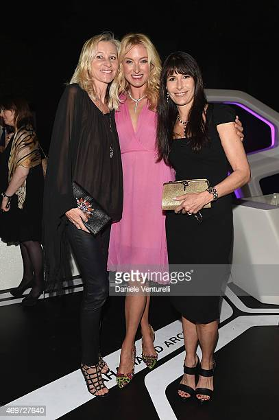 Ester Velo Van Hulst Lilly Zu Sayn Wittgenstein Berleburg and Marzia Babin attend Bulgari celebration of Design Week on April 14 2015 in Milan Italy