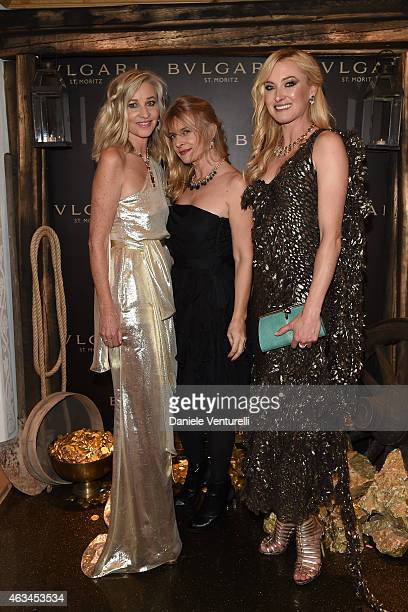 Ester Velo van Hulst Nastassja Kinski and Lilly Zu Sayn Wittgenstein Berleburg attend Bulgari High Jewelry Event St Moritz on February 14 2015 in St...