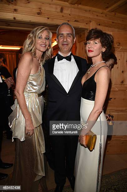 Ester Velo van Hulst Raz Steinmetz and Or Steinmetz attend Bulgari High Jewelry Event St Moritz on February 14 2015 in St Moritz Switzerland